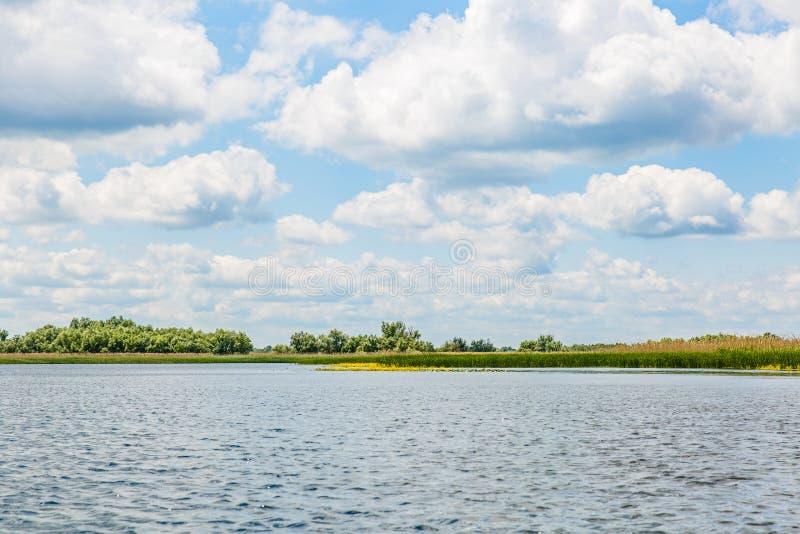Danube Delta landscape. Landscape photo of Danube Delta in Romania stock photos