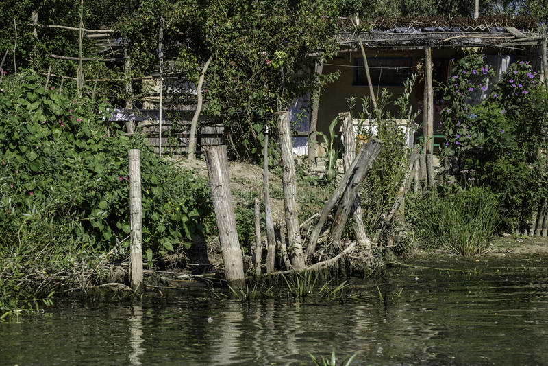 Danube delta, romania, europe, fisherman house royalty free stock photography