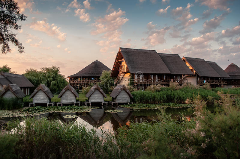 Danube Delta-Sf.Gheorghe. A traditional Complex accommodation in the Danube Delta - Sf. Gheorghe royalty free stock photos