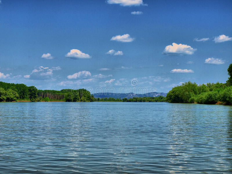 Danube - fleuve de durée images libres de droits