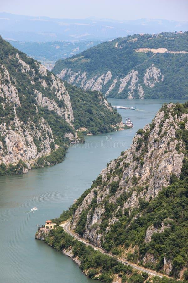 The Danube Gorge - Cazanele Dunarii stock image