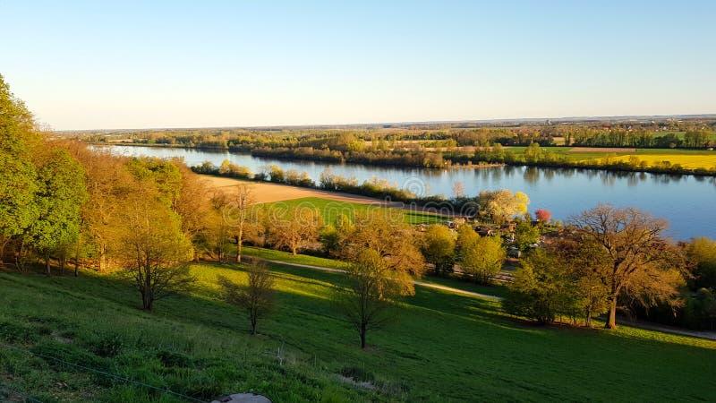 Danube near Regensburg royalty free stock image