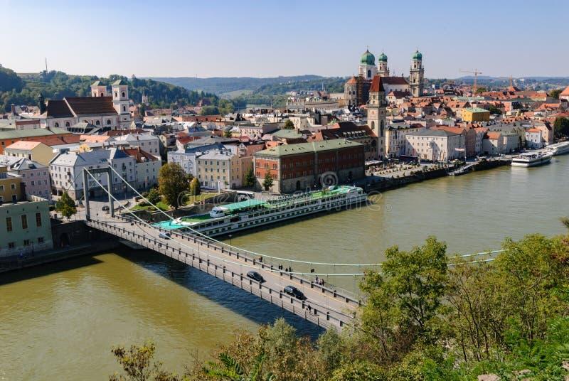 Danube in Passau royalty free stock photo