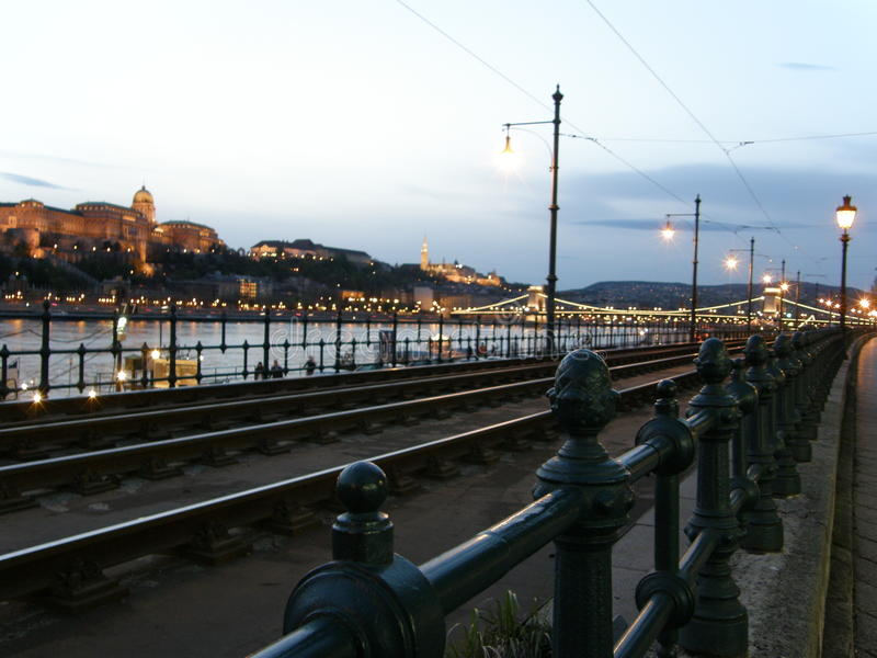 Download Danube Quay And Buda Hill Skyline Stock Image - Image: 26546489