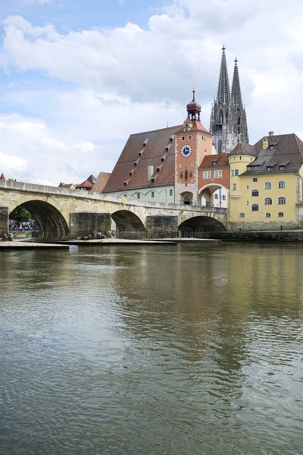 Danube In Regensburg Stock Photo