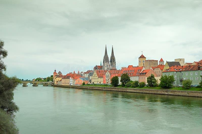 Danube in Regensburg royalty free stock photo