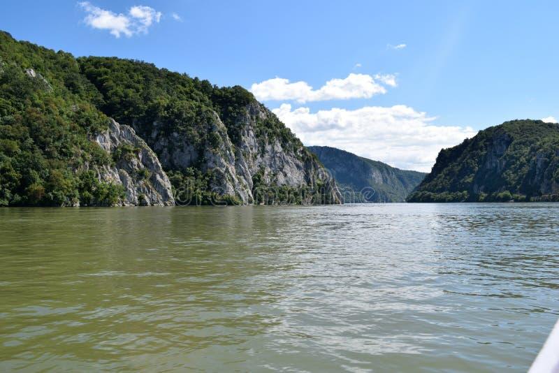 Danube River - área das caldeiras fotografia de stock