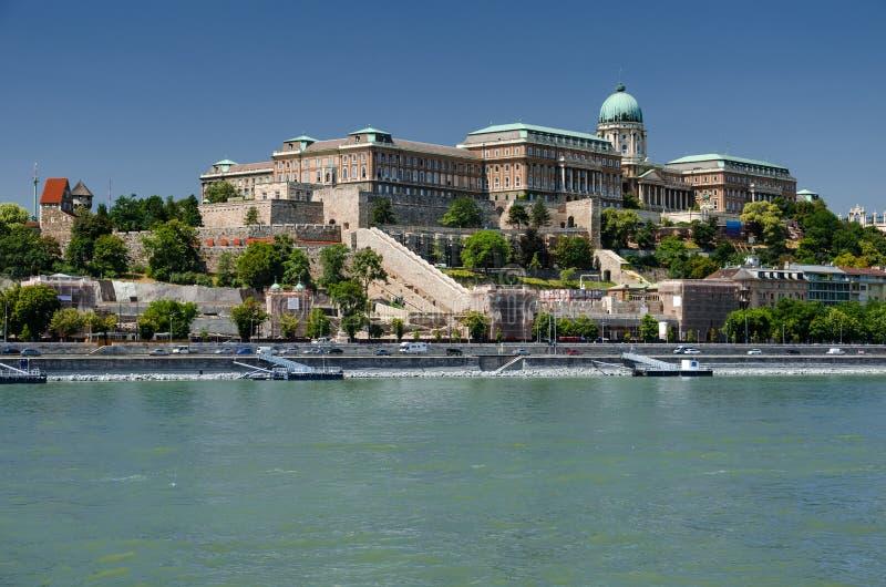 Danube River and Buda Castle, Budapest stock image