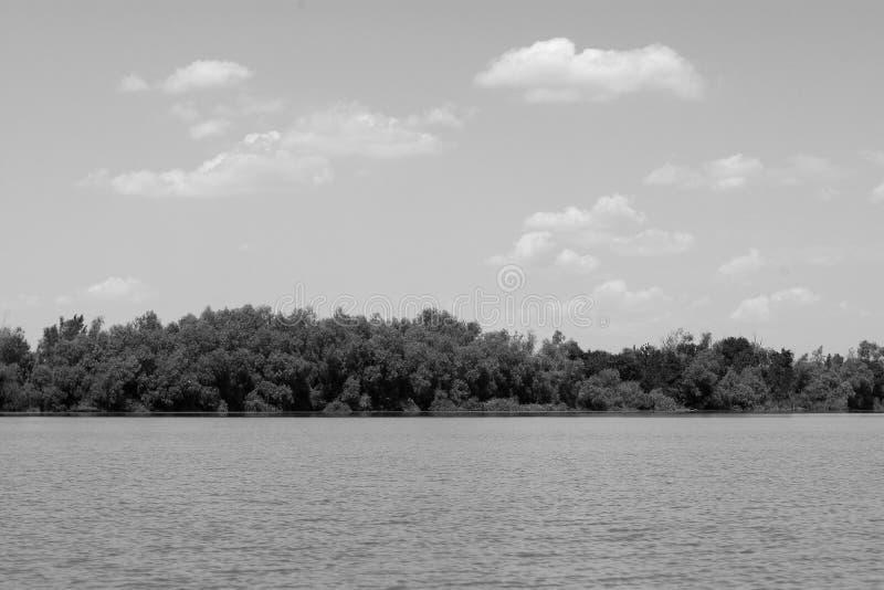 Danube river. In Danube Delta Romania, landscape stock image