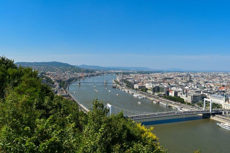 Danube River em Budapest fotos de stock