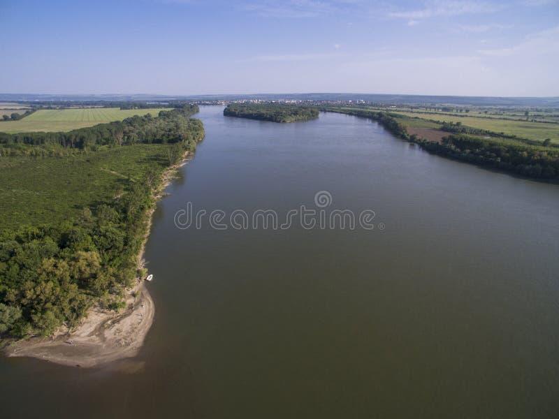 Danube River från över arkivfoton