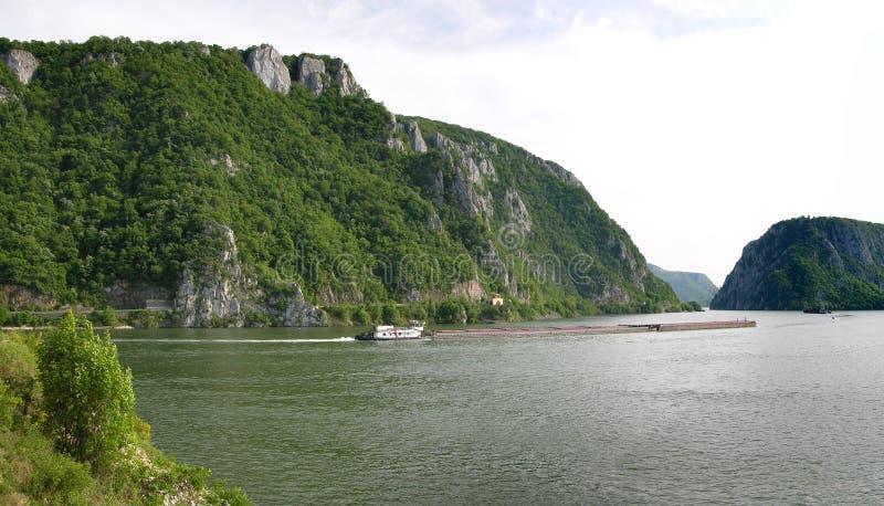 Danube river gorge stock photo