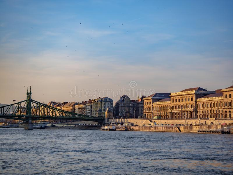 The Danube River in Hungary is the longest river in the European Union stock images