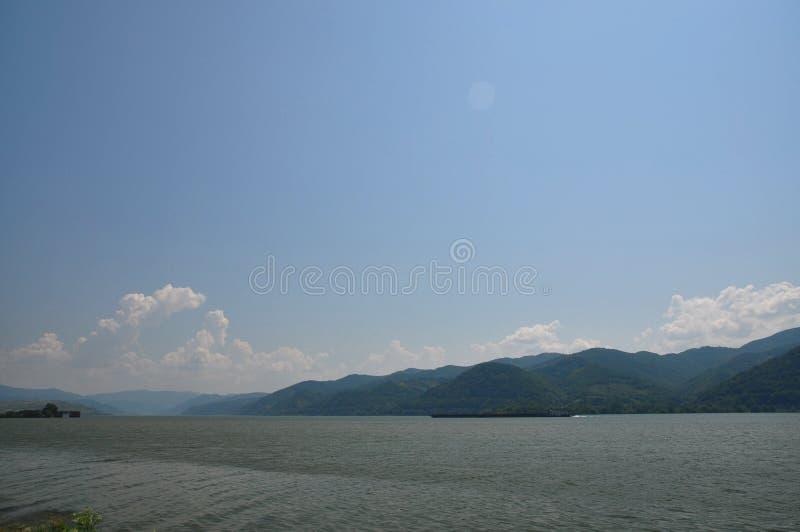 The Danube River, Romania stock image
