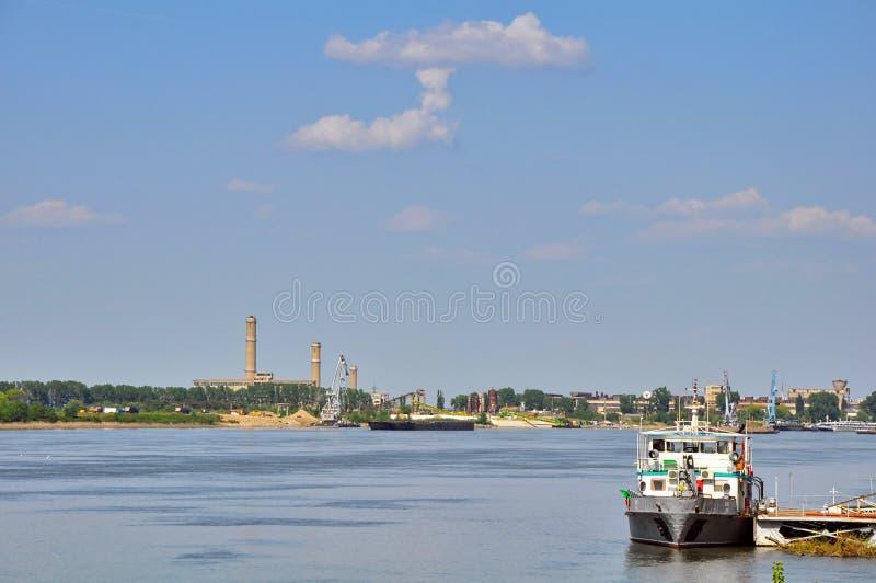 Danube River. In varna, bulgaria stock photos