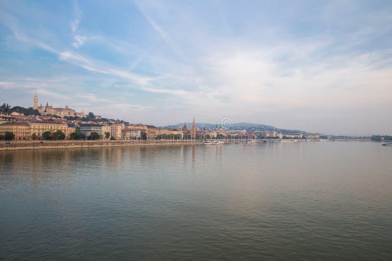 Danube rzeka - panorama Widok Budapest bulwar zdjęcia royalty free
