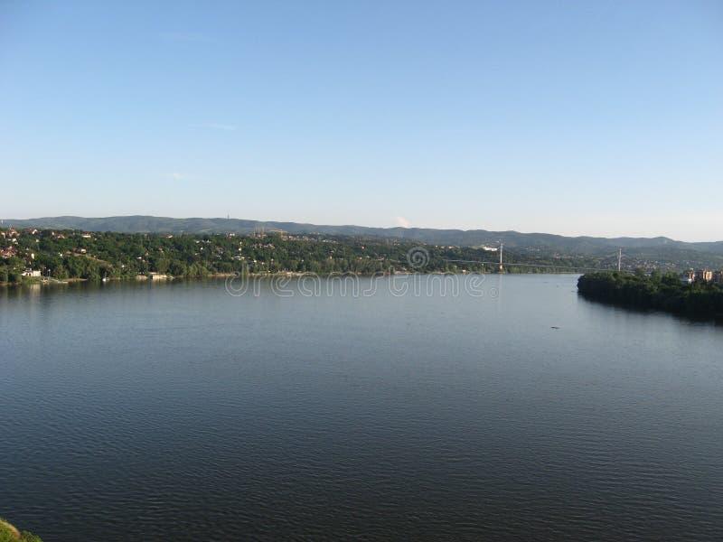 Danube rzeka, PETROVARADIN forteca, wyjście festiwal, nOVI smutny, vOJVODINA, sERBIA zdjęcie stock