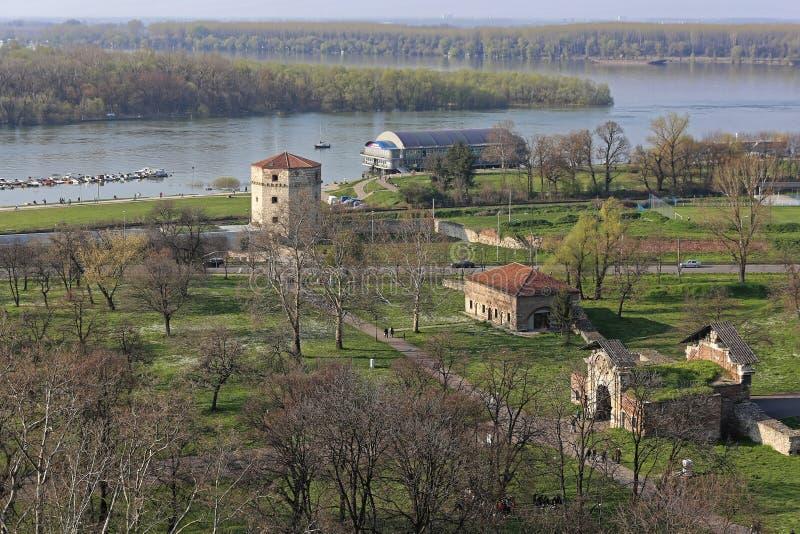 Danube and Sava Rivers royalty free stock image