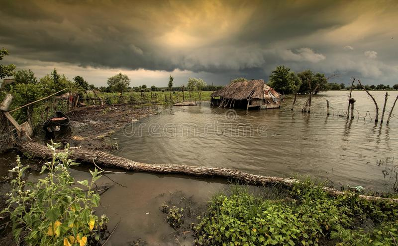 Danube storm royalty free stock photography