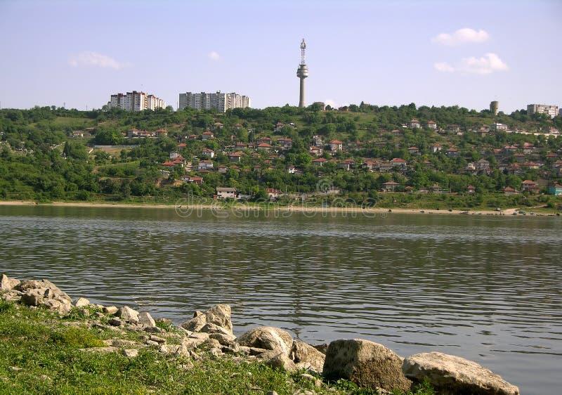 Danube at Turtucaia (Bulgaria) royalty free stock photography