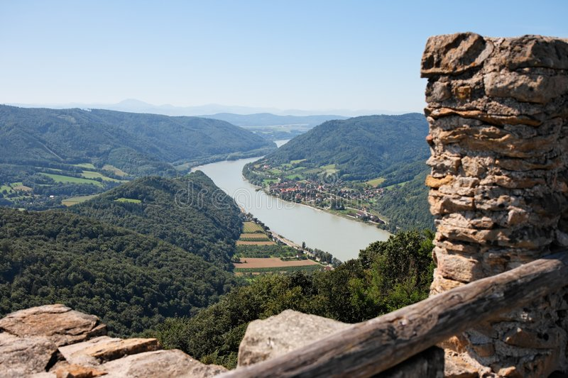 Download Danube Valley View From Medieval Castle Stock Image - Image: 8074405
