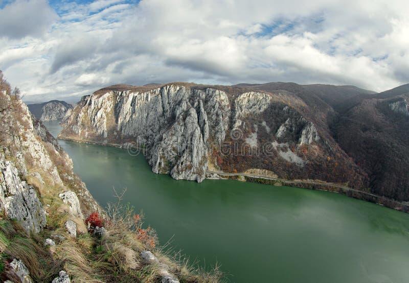 Danube wąwóz - Rumunia obraz stock