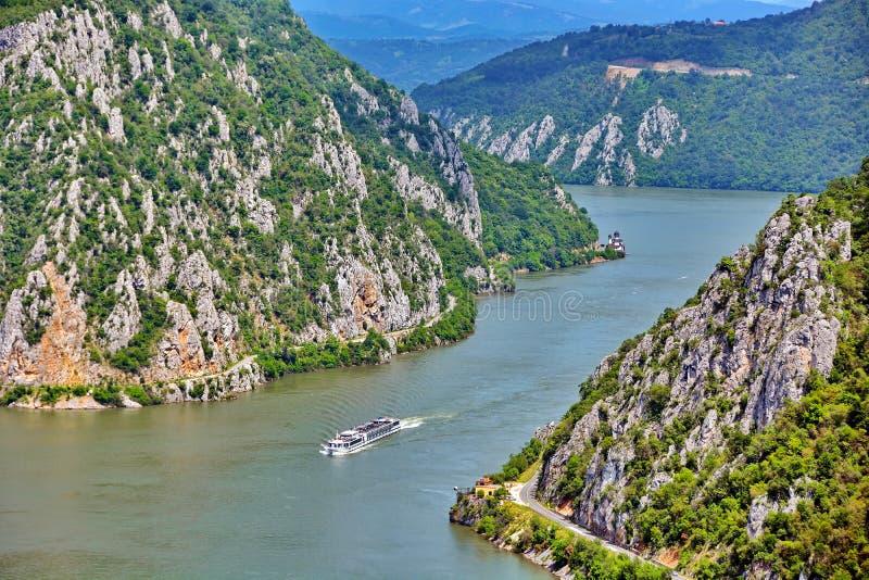 danube wąwozy Romania zdjęcie stock