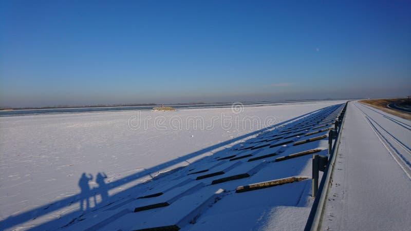 Danubio congelato immagine stock