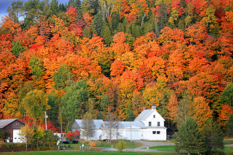Danville Vermont church. From Joes pond royalty free stock photo