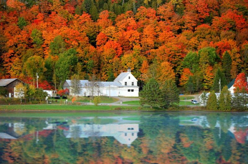 Danville Vermont kyrka arkivbild