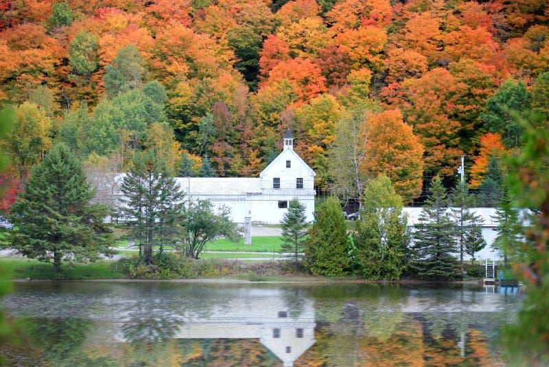 Danville Vermont kyrka royaltyfria bilder