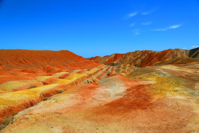Danxia Geological park, Zhangye, Gansu prowincja, Chiny zdjęcia royalty free