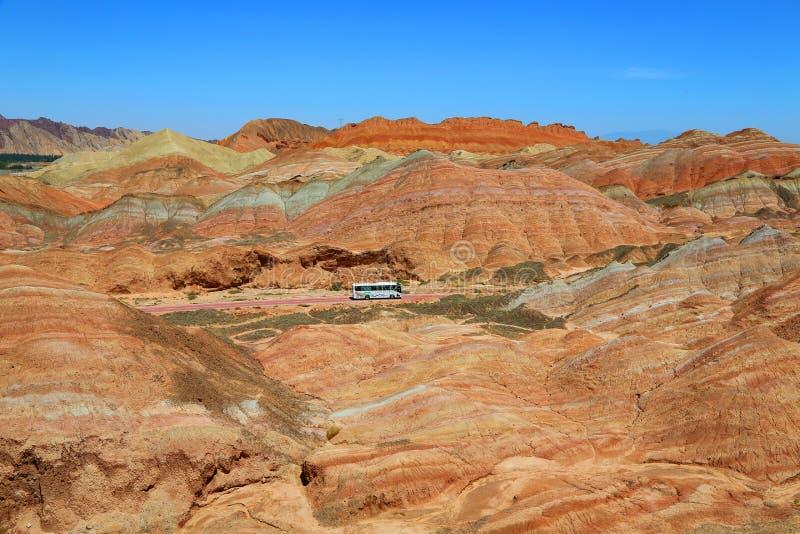 Danxia Geological park, Zhangye, Gansu prowincja, Chiny obrazy stock