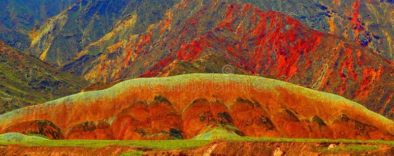Danxia Geological park, Zhangye, Gansu prowincja, Chiny fotografia stock