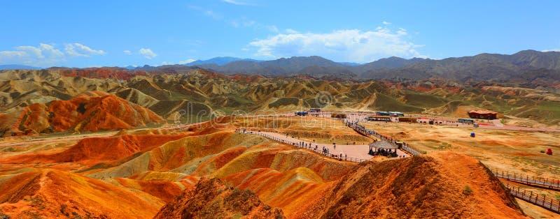 Danxia Geological park, Zhangye, Gansu prowincja, Chiny obrazy royalty free