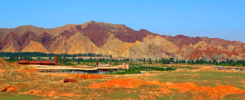 Danxia Geological park, Zhangye, Gansu prowincja, Chiny obraz royalty free