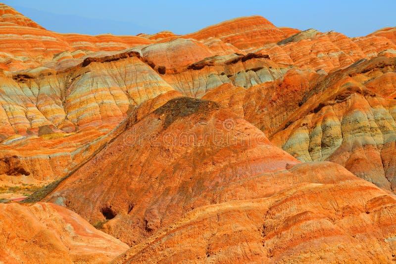 Danxia Geologisch Park, Zhangye, Gansu-Provincie, China stock afbeelding