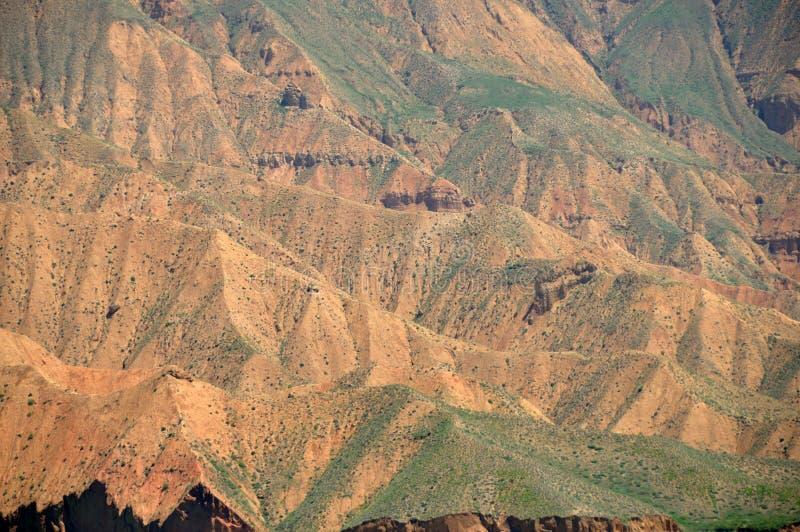 Danxia landform i kanbula arkivbilder