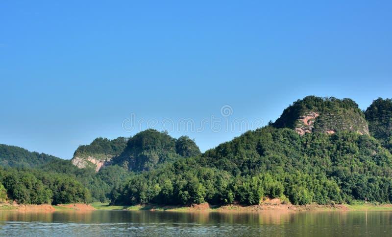 Download Danxia Landform Mountain With Lake In Taining, Fujian, China Stock Image - Image: 32047553