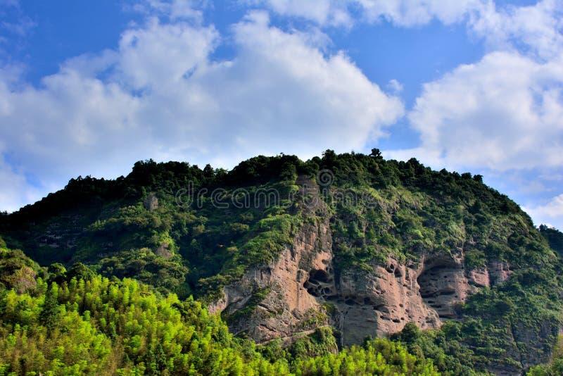Danxia landform mountain in Taining, Fujian, China. Danxia landform mountain as featured physiognomy locate in Taining, Fujian province, South of China royalty free stock photo