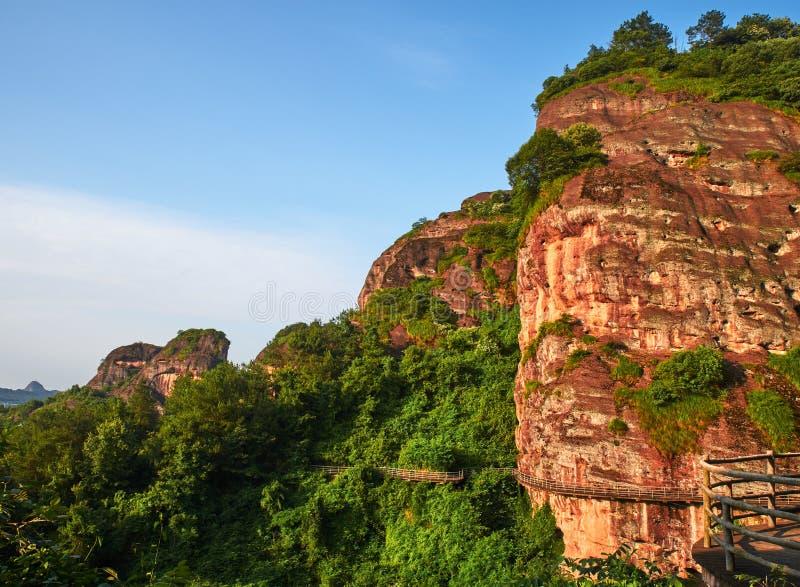 Danxia-Landform von Longhu-Berg stockbilder
