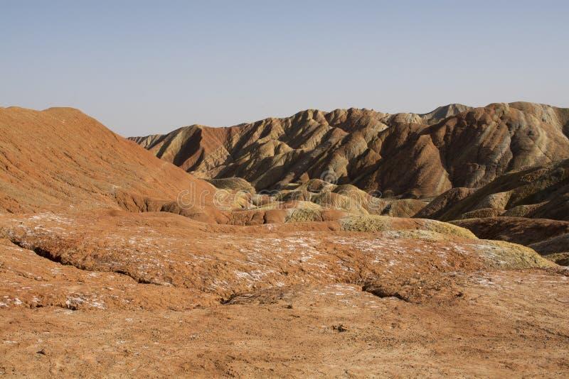 Danxia landform w Zhangye, Chiny fotografia royalty free