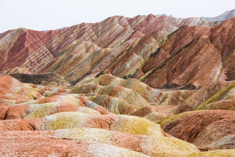 Danxia Rainbow Mountains, Zhangye, Gansu Province, China. Danxia Rainbow Mountains, National Geopark of Zhangye, Gansu Province, China royalty free stock image