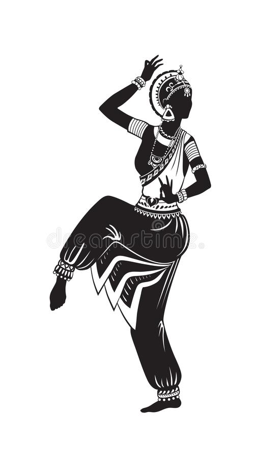 Danza étnica de la muchacha india libre illustration