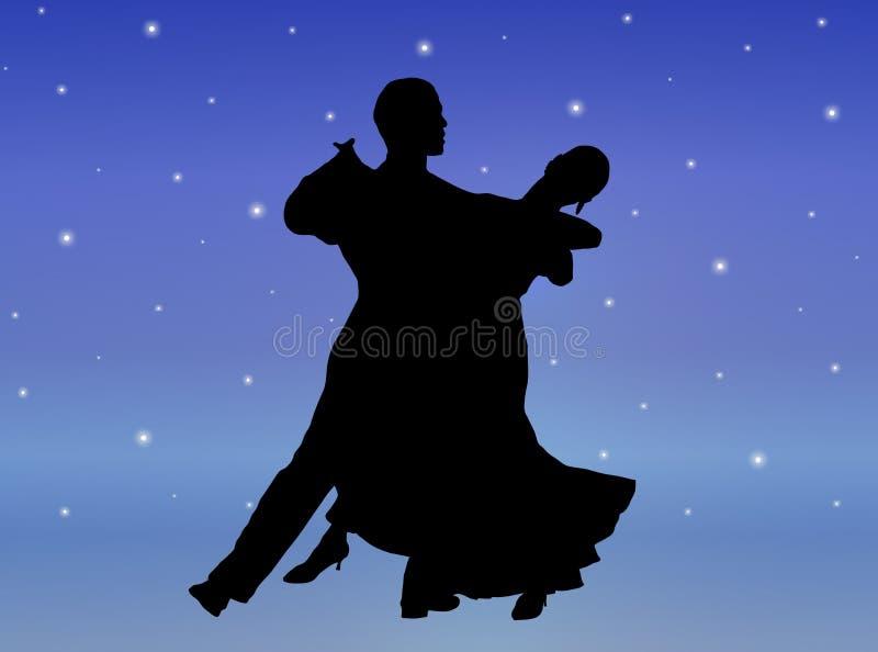 Danza 1 de la luz de las estrellas ilustración del vector