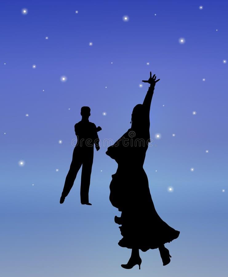 Danza 2 de la luz de las estrellas ilustración del vector