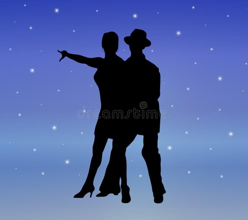 Danza 3 de la luz de las estrellas ilustración del vector