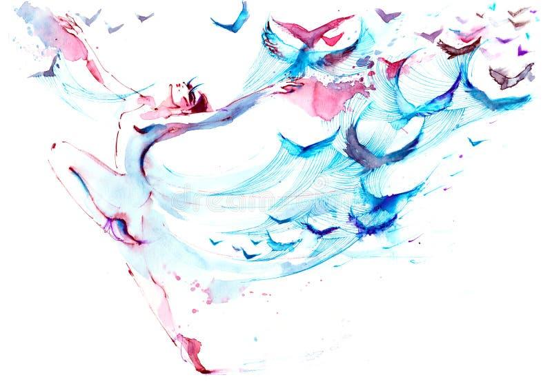 danza ilustración del vector