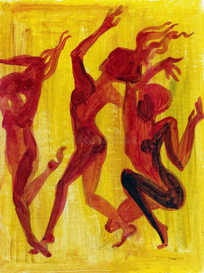 Danza abstracta fotografía de archivo libre de regalías