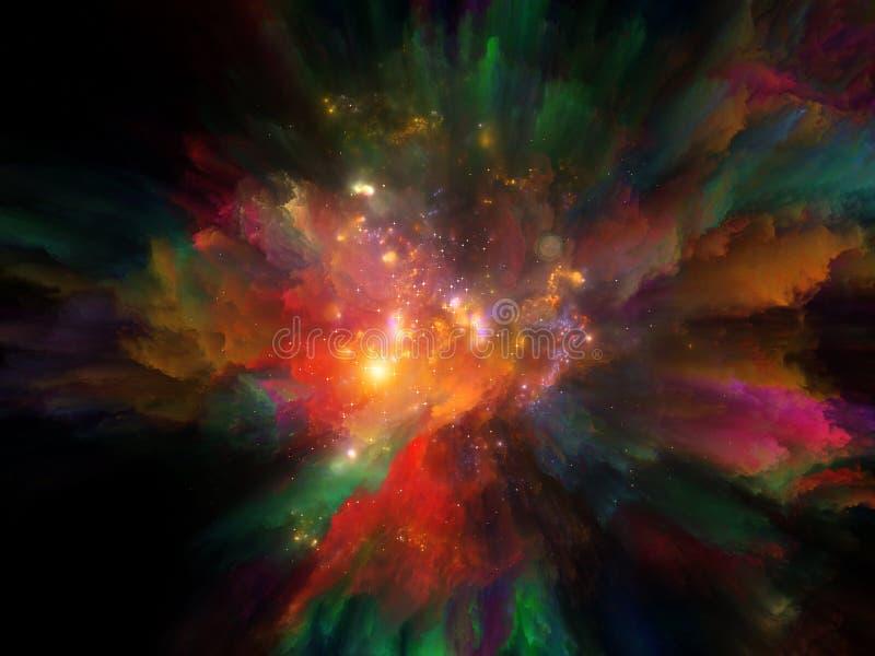 Danza ardiente del iris ilustración del vector